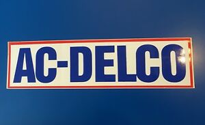 Ac Delco Parts Racing Drag Nhra Large Glossy Vintage Sticker Decal