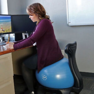 Casl Brands 52 centimeter Yoga Ball Balance Chair With Pump For Home Or Office