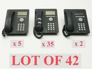 Lot Of 42 Avaya 35 9620 5 9620c 2 9620l Charcoal Voip Display Business Phone