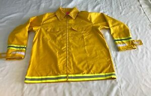 Firefighter Wildland brush Fire Jacket W reflector Stripes Size 3xl New