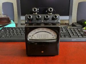Vintage German H b Voltage Test Meter Bakelite With Carrying Case Working