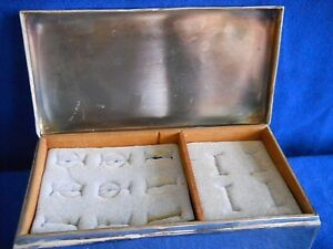 Silver Plated Poole Silver Cigarette Jewelry Box Engraved With F M S 1899