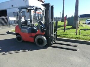 Toyota 7fgcu25 Cushion 5000lb With 240 Forklift Lifttruck