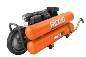 Ridgid 8gallon Portable Gas Powered Air Compressor Wheelbarrow Commercial