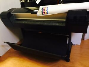 Hp Designjet Z5200 Postscript 44 Photo Printer Plotter Cq113a W Ink