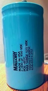 Mallory Capacitor Cgs202t450x5c 2000uf 450vdc Pos 85 Usa Seller