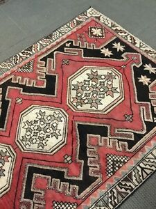 Spectacular Rare Tribal Vintage Authentic Persian Area Rug 5 X 7 Wool Knotted A