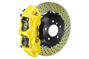 Brembo Gt Brake Kit Front 380mm 2 Pc Drilled Yellow 987 Boxster Cayman 05 11