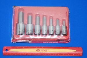 New Snap on 7 Pc 1 2 Drive Sae Standard Hex Bit Socket Set 307esay Ships Free