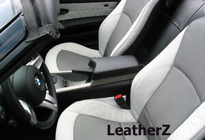 Bmw Z4 Roadster Coupe Armrest Console E85 E86 Z4 Bmw Black Leather Silver