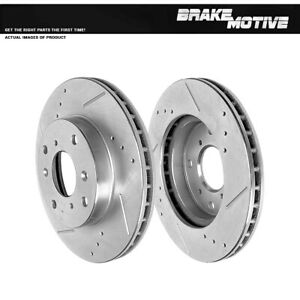 Front Drill Slot Brake Rotors For 98 99 Cl 1998 2002 Accord 92 1996 Prelude
