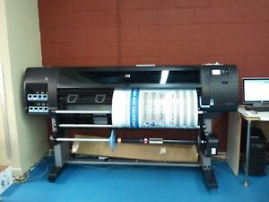 Used 60 Hp Designjet Z6200 Non postscript Printer Plotter 771 Ink Cartridge