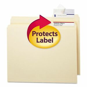 Smead Seal View File Folder Label Protector Clear Laminate 100ct