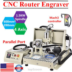 4axis 1 5kw 6040 Cnc Router Engraver Engraving Drilling Machine mach3 Controller