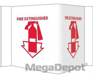 Nmc Vs1w fire Extinguisher 5 3 4 X 8 3 4 Visi Sign Acrylic