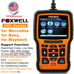 For Benz Abs Srs Epb Dpf Oil Reset Auto Scanner Foxwell Nt510 Diagnostic Tool