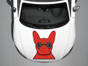 Spiderman Dog Full Color Car Hood Vinyl Sticker Decal Fit Any Vehicle Auto H40