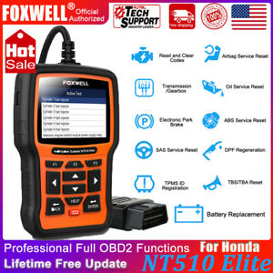 For Honda Full System Engine Auto Scanner Foxwell Nt510 Obdii Diagnostic Tool