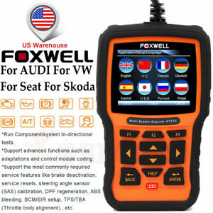 For Vw For Audi Abs Srs Dpf Oil Reset Foxwell Nt510 Car Diagnostic Tool Scanner