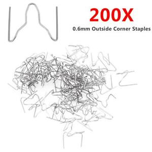200x 0 6mm Pre Cut Wave Hot Staples For Car Bumper Plastic Stapler Repair Welder