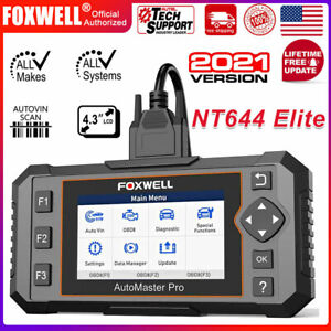 Foxwell Nt644 E Full System All make Obd Obd2 Car Diagnostic Tool Auto Scanner