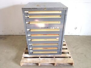 Classic 9 Drawer Equipto Tools Parts Cabinet 30 X 29 X 42 1 4 Hd Steel