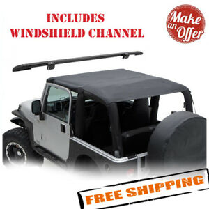 Smittybilt 93635 Extended Top W Windshield Channel 1997 2006 Jeep Wrangler Tj