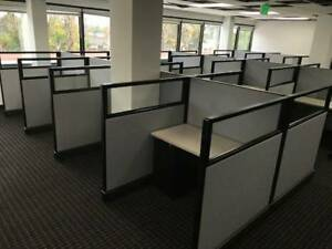 Lot Of 48 Used Herman Miller Call Center Cubicles 53 Tall With Glass