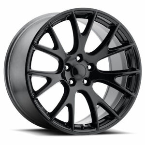 4 New Dodge Srt Hellcat 22 Gloss Black Wheelssstaggered Oe 22x9 22x10 Charger