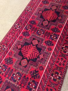 Spectacular Tribal Authentic Persian Heriz Rug Runner 2 8 X 13 Rare Wool A