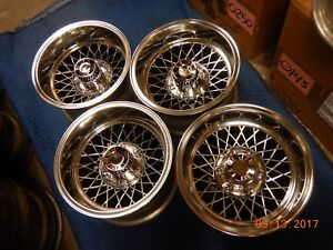 Set 6 Lug Polished Appliance Wire Mag Wheels 15x8 5 Chevy Gmc Van Truck Toyota