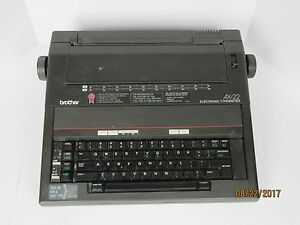 Brother Electronic Typewriter Ax 22 Extra Tape Portable Tested Works