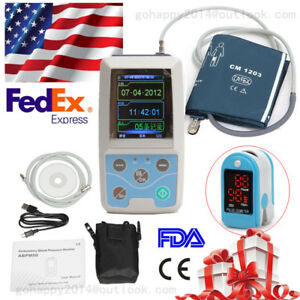 24h Nibp Holter Ambulatory Blood Pressure Patient Monitor Adult Cuff pc Software