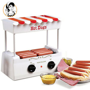 Nostalgia Hot Dog Roller Machine Grill Bun Warmer Cooker Home Party Commercial