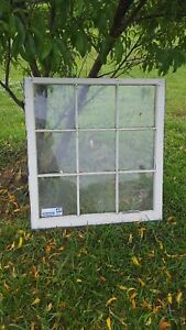 Architectural Salvage 9 Pane Old Window Sash Frame Pinterest 32x36 With Glass