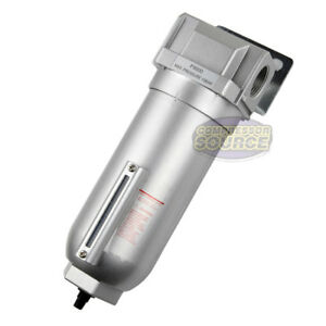 1 Inline Air Compressor In Line Water Moisture Filter Trap Separator Auto Drain