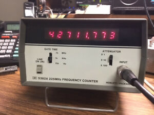 Hewlett Packard Oscillator 5382a 225 Mhz Frequency Counter With Option 01