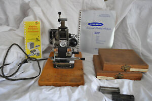 Vintage Kingsley Machine M 85 ba Hot Foil Stamping Machine With Letters M85 M 85