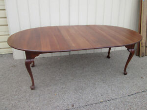 00001 Statton Old Towne Solid Cherry Dining Table W 2 Leafs