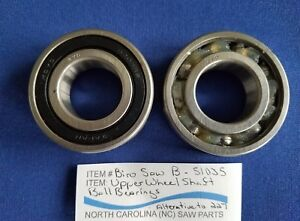 Upper Wheel Shaft Ball Bearings For Biro Saw 11 22 33 1433 3334 Sold In Pairs