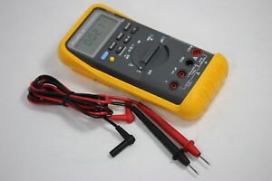 Clean Fluke 87 True Rms Multimeter W Test Leads excellent Condition