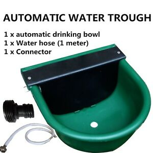 Automatic Water Trough Plastic Bowl Auto Fill For Dog Sheep Chicken New