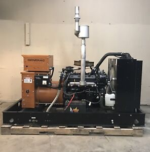 30 Kw Generator Natural Gas Propane Single Phase 120 240 Low Hrs Gm Engine Sg030