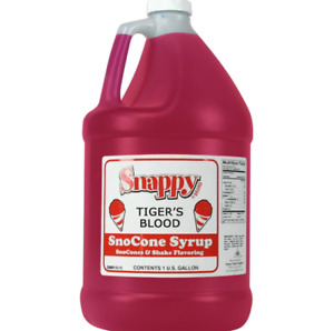 Snow Cone Syrup 1 Gal Tigers Blood Snappy Shake Soda Flavoring Beverages 128oz