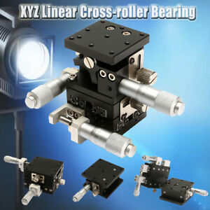 3 Axis Xyz Linear Stage Laser Bearing Sliding Tuning Table Platform Cross roller