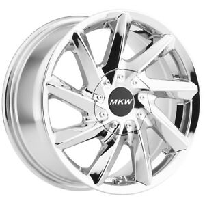 4 New 16 Inch Mkw M115 16x7 5 5x100 5x108 40mm Chrome Wheels Rims