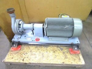 Worthington D814 3 X 2 Npt 30hp Centrifugal Pump 230 460v 3ph 8 Impeller
