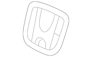 Genuine Honda Emblem 75700 Tf0 000