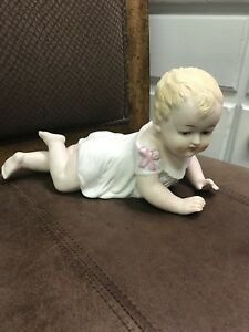 Andrea Bisque Porcelain Piano Baby Doll Figurine