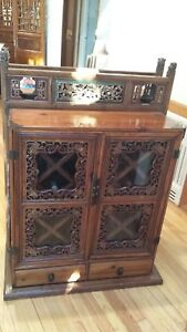 Antique Chinese Wedding Chest Wine Cabinet